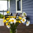 Wildflowers bouquet at cottage — Stock Photo #4482721