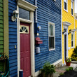 Colorful houses in St. John's - Stock Photo