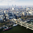 Hungerford Bridge seen from London Eye — Stock Photo #4482856