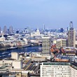 Cityscape from London Eye - Stock Photo