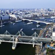 Hungerford Bridge seen from London Eye — Stock Photo