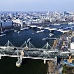 Hungerford Bridge seen from London Eye — Stock Photo