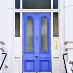 Blue door in London — Stock Photo