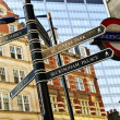 Signpost in London - Stock Photo