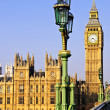Palace of Westminster from bridge - Stock Photo