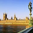 Palace of Westminster from bridge — Stock Photo