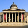National Gallery building in London - Stock Photo