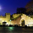 Royalty-Free Stock Photo: Tower of London walls at night