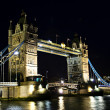 Tower bridge in London at night — Stok fotoğraf