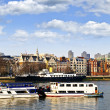 London skyline from Thames river - Stok fotoğraf