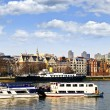 London skyline from Thames river — Stok fotoğraf