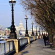 London view from South Bank — Foto de Stock