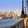London view from South Bank — Stock Photo