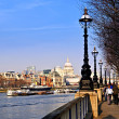 London view from South Bank - Stock fotografie