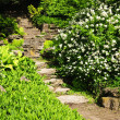 Natural stone garden steps - Photo