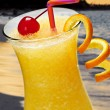 Tropical orange drink - Stock Photo