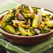 Stock Photo: Roasted brussels sprouts dish
