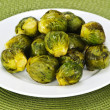 图库照片: Plate of brussels sprouts