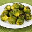 Plate of brussels sprouts — Stockfoto #4483558