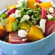 Roasted red and golden beets — Stock Photo