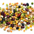 Stock Photo: Dry beans and peas