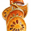 Dried bael fruit — Stock Photo