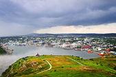 Cityscape of Saint John's from Signal Hill — Stock Photo