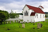 St. Luke's Church and cemetery in Placentia — Stock Photo