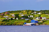 Fishing village in Newfoundland — Stock Photo