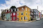 Colorful houses in St. John's — Stock Photo
