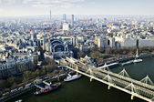 Hungerford Bridge seen from London Eye — Stockfoto