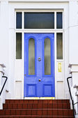 Blue door in London — Stock Photo