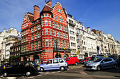 Busy street corner in London — Stock Photo