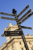 Signpost in London — Stock Photo