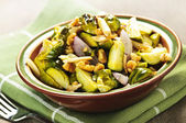 Roasted brussels sprouts dish — Stock Photo