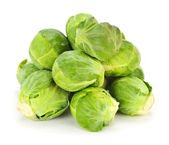Isolated brussels sprouts — Stock Photo