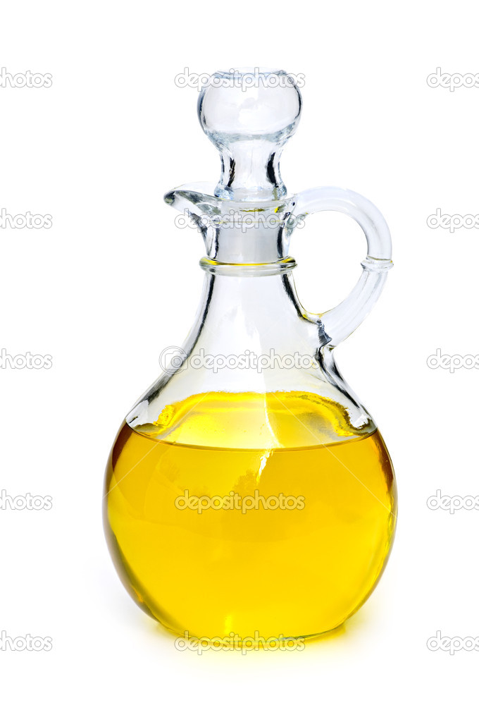 Oil bottle isolated on white background — Stock Photo #4482367