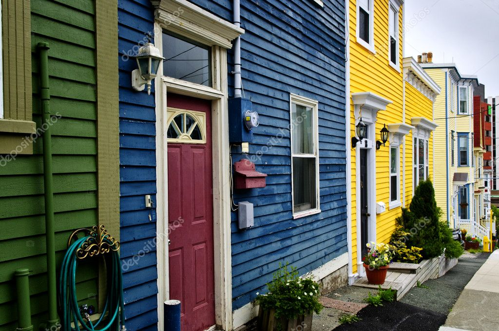 Colorful houses in St. John's, Newfoundland, Canada — Stock Photo #4482778