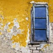 Grunge background wall and window — Stock Photo