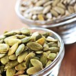 Pumpkin and sunflower seeds - Stock Photo