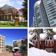 Real estate collage - Stock Photo