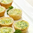 Mini quiches - Stock Photo