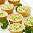 Mini quiches — 图库照片