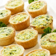 Mini quiches - Foto Stock