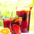 Royalty-Free Stock Photo: Fruit punch in pitcher and glasses