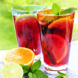 Stock Photo: Fruit punch in glasses