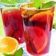 Fruit punch in glasses — Stock Photo #4494270
