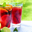 Fruit punch in glasses — Stock Photo #4494279