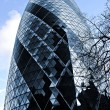 Gherkin building in London - Stock Photo