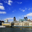 London skyline from Thames river - Stock Photo